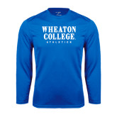 Syntrel Performance Royal Longsleeve Shirt-Wheaton College Athletics