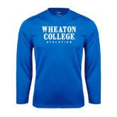 Syntrel Performance Royal Longsleeve Shirt-Wheaton College Athletics
