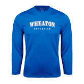 Performance Royal Longsleeve Shirt-Arched Wheaton College Athletics