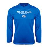 Syntrel Performance Royal Longsleeve Shirt-Baseball w/ Lyon Head