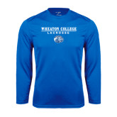 Syntrel Performance Royal Longsleeve Shirt-Lacrosse w/ Lyon Head