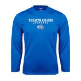Syntrel Performance Royal Longsleeve Shirt-Lacrosse w/ Lyon Head