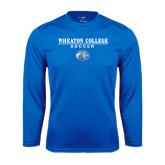 Performance Royal Longsleeve Shirt-Soccer w/ Lyon Head