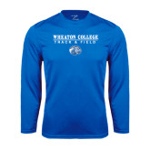 Syntrel Performance Royal Longsleeve Shirt-Track and Field w/ Lyon Head
