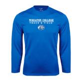 Syntrel Performance Royal Longsleeve Shirt-Track and Field w/ Lyon Head