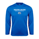 Performance Royal Longsleeve Shirt-Volleyball w/ Lyon Head