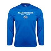 Syntrel Performance Royal Longsleeve Shirt-Softball w/ Lyon Head