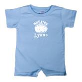 Light Blue Infant Romper-Wheaton Lyons - Official Logo