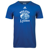 Adidas Climalite Royal Ultimate Performance Tee-Wheaton Lyons - Official Logo