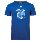 Adidas Climalite Royal Ultimate Performance Tee-Wheaton College - Lyon Head