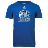 Adidas Climalite Royal Ultimate Performance Tee-Wheaton College Lyons - Lyon Head