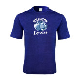 Performance Royal Heather Contender Tee-Wheaton Lyons - Official Logo