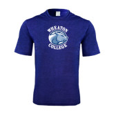 Performance Royal Heather Contender Tee-Wheaton College - Lyon Head