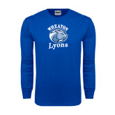 Royal Long Sleeve T Shirt-Wheaton Lyons - Official Logo