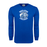 Royal Long Sleeve T Shirt-Wheaton College - Lyon Head