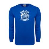 Royal Long Sleeve T Shirt-Wheaton College - Lyon Head