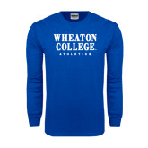 Royal Long Sleeve T Shirt-Wheaton College Athletics