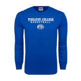 Royal Long Sleeve T Shirt-Basketball w/ Lyon Head