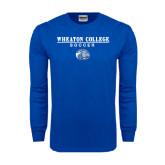 Royal Long Sleeve T Shirt-Soccer w/ Lyon Head