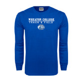 Royal Long Sleeve T Shirt-Track and Field w/ Lyon Head