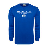 Royal Long Sleeve T Shirt-Softball w/ Lyon Head