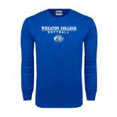 Royal Long Sleeve T Shirt-Softball w/ Lyon Head