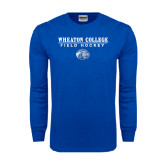 Royal Long Sleeve T Shirt-Field Hockey w/ Lyon Head
