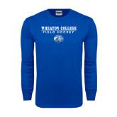 Royal Long Sleeve T Shirt-Field Hockey w/ Lyon Head