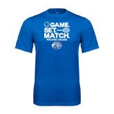 Performance Royal Tee-Game Set Match - Tennis Design