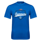 Performance Royal Tee-2016 NEWMAC Champions Baseball