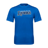 Syntrel Performance Royal Tee-Wheaton College Lyons Wordmark