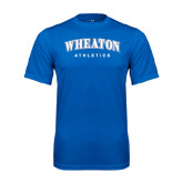 Performance Royal Tee-Arched Wheaton College Athletics