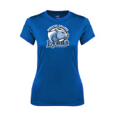 Ladies Syntrel Performance Royal Tee-Wheaton College Lyons - Lyon Head