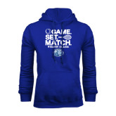 Royal Fleece Hoodie-Game Set Match - Tennis Design