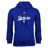 Royal Fleece Hoodie-2016 NEWMAC Champions Baseball