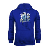 Royal Fleece Hoodie-Wheaton College Lyons - Lyon Head