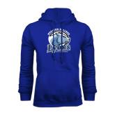 Royal Fleece Hoodie-Wheaton College Lyons - Lyon Head