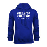 Royal Fleece Hoodie-Wheaton College Athletics