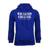 Royal Fleece Hoodie-Wheaton College Athletics