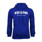 Royal Fleece Hoodie-Arched Wheaton College Athletics