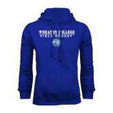 Royal Fleece Hoodie-Field Hockey w/ Lyon Head