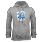 Grey Fleece Hoodie-Wheaton College - Lyon Head