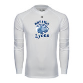 Under Armour White Long Sleeve Tech Tee-Wheaton Lyons - Official Logo