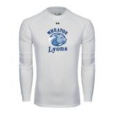 Under Armour White Long Sleeve Tech Tee-Wheaton Lyons - Official Logo