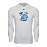 Under Armour White Long Sleeve Tech Tee-Wheaton College - Lyon Head
