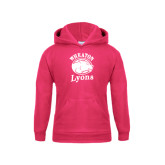 Youth Raspberry Fleece Hoodie-Wheaton Lyons - Official Logo