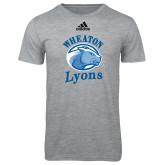 Adidas Sport Grey Logo T Shirt-Wheaton Lyons - Official Logo