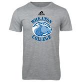 Adidas Sport Grey Logo T Shirt-Wheaton College - Lyon Head