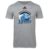 Adidas Sport Grey Logo T Shirt-Wheaton College Lyons - Lyon Head