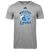 Adidas Climalite Sport Grey Ultimate Performance Tee-Wheaton Lyons - Official Logo